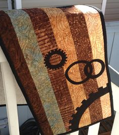 Steampunk Style Clockwork Cog Table Runner Wall by WestCoastWitch, $35.00