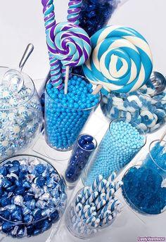 How about a buffet? A #blue candy buffet! #food