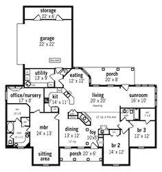 2328 sq ft...turn sunroom into 4th bedroom