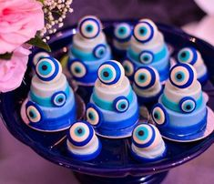 Gender Reveal Party Decorations, Baby Gender Reveal Party, Party Themes, Henna Night, Greek Evil Eye, Reveal Parties, Cakes And More, Mykonos, Vanilla Cake