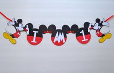High Chair Banner I AM 1  Mickey Mouse Ears by FeistyFarmersWife, $12.50 #MickeyMouseClubhouse