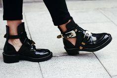 Balenciaga cut out boots.