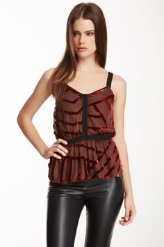 Velvet Stripe Tank on HauteLook