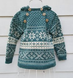 Snøhetta anorak and sweater von SiSiVeAS auf Etsy Knitting For Kids, Knitting Projects, Baby Knitting, Fair Isle Pullover, Baby Fair, Norwegian Knitting, Knit Crochet, Crochet Baby, Fair Isle Pattern