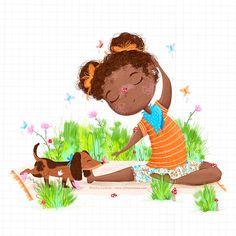 Yoga time | | children's illustration by Sofia Cardoso #kidlitart #yoga #illustration