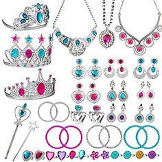 15 Pairs Clip on Earrings Princess Play Jewelry Girls Earring set Crown Fruit Flowers Clipon Earrings Cute earring set for girls