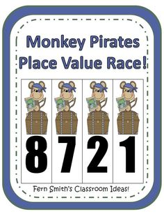 Place Value Race Math Center Game Activities