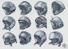 Quick batch of helmet sketches. #sketchdaily #dailysketch #sketchbook#conceptart #rocket #spacerace #helmet #artistoninstagram #soyuz #design #illustration #sketch #marker #concept #instagood #cosmonaut #space #astronaut #арт #рисунок #иллюстрация #набросок #зарисовка #космодром #космонавт #ракета
