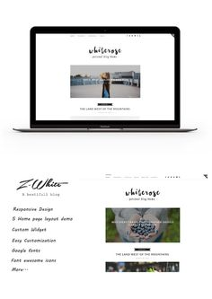 Z-White - A Personal Blog Theme. WordPress Blog Themes. $35.00