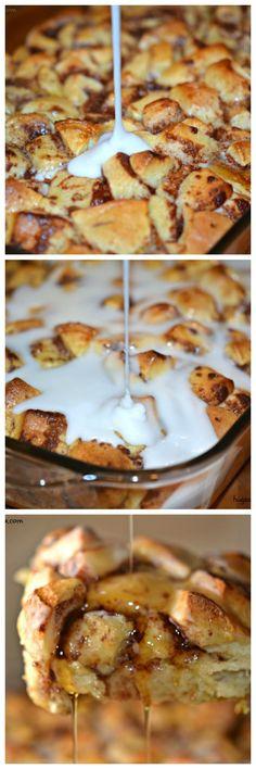 cinnamon roll sweet glazed casserole