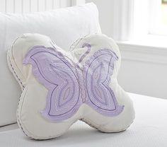 Butterfly Shaped Pillow | Pottery Barn Kids