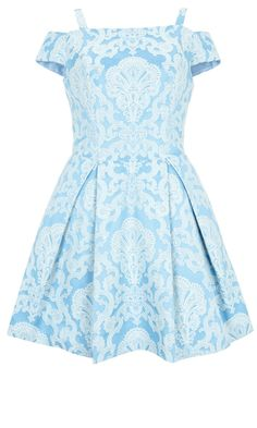 Topshop SS13 Pale Blue Print Dress