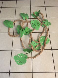 Magalie Sarnataro's props Jungle vignette Jungle vines twisted brown paper with cricut leaves