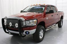 Red Dodge Ram Truck Lowered Trucks, Ram Trucks, Dodge Trucks, Chrysler Cars, Car Shop, Mopar, 4x4, Diesel, Cool Cars
