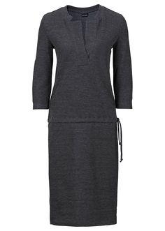 Sukienka dzianinowa bonprix szary melanż - 945236