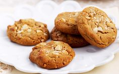 Golden syrup and white chocolate cookies