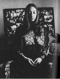 Marisa Berenson by Berry Berenson in an article on Meditation from US Vogue, July 1970
