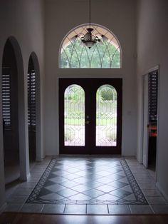 My House Design.  Foyer Tile Rug.