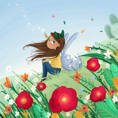 A warm spring breeze, Lucy Fleming Illustrations