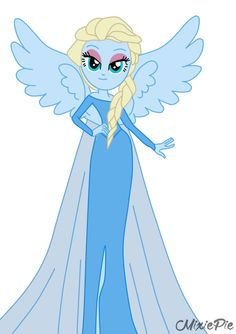 Elsa [from Frozen] in Equestria Girls by MixiePie on deviantART Mlp, Rainbow Rocks, Rainbow Dash, Elsa Frozen, Disney Frozen, Jack Frost, Best Crossover, Little Poni, Equestrian Girls