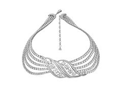 Adler's diamond necklace that will be treasured forever, set with diamonds 111.94 cts mounted in 18K white gold.