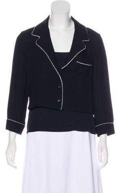 Christian Dior Silk Embellished Jacket Set