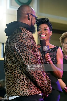 Recording artist R. Kelly and actress Tichina Arnold speak during the 2015 Soul Train Music Awards preshow at the Orleans Arena on November 2015 in Las Vegas, Nevada. Tichina Arnold, Train Music, Soul Train, Music Awards, Nevada, Las Vegas, November, Celebs, Actresses