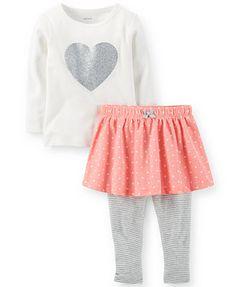 Carter's Baby Girls' 2-Piece Top & Skirted Leggings Set hastab 24m 137.94