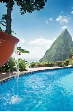 Romantic, eco-luxe resort located on the top of the Soufriere Volcano with spectacular views of the Pitons.