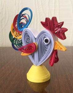 Quilled Rooster