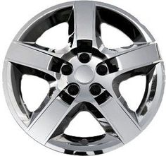 Oxgord Chrome 17 Inch Wheel Covers Pack of 4 Replacement Hubcaps with E-z on Retention System
