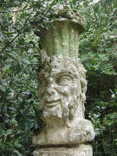 Bomarzo, a decorative faun's head.