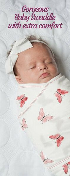 c579568a96 I love this Baby Swaddle from Nested Bean because it mimics the