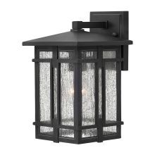 """1 Light 7"""" Wide LED Lantern Wall Sconce with Clear Seedy Glass Shade from the Tucker Collection"""
