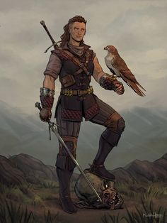 Character design of my personal character, Kwyn, as a Witcher of the Manticore school. Heavily inspired by the style of CD Projekt Red's Thronebreaker. Dungeons And Dragons Characters, Dnd Characters, Fantasy Characters, Female Characters, Fantasy Character Design, Character Concept, Character Inspiration, Character Art, Story Inspiration