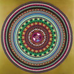 Bharti Kher (Indian/British, b. 1969), Indra's Net (6), 2007. Bindis on aluminium composite panel.  Thunderstruck
