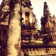 Amazing ruins at Sukhothai National Park Thailand