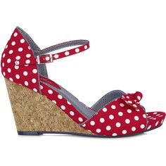Ruby Shoo MOLLY Vintage Polka DOTS Punkte 50s Riemchen WEDGES / Pumps... ❤ liked on Polyvore featuring shoes, pumps, polka dot pumps, vintage footwear, ruby shoo, rockabilly shoes and wedge heel shoes
