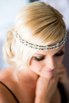 Crystal headband: http://www.stylemepretty.com/texas-weddings/austin/2015/02/05/boho-chic-outdoor-wedding-at-umlauf-sculpture-gardens/ | Photography: Cory Ryan - http://www.coryryan.com/