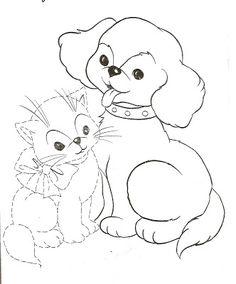 Çoçuklara Köpek Ve Kedi Resimleri (Boyama Resimleri)