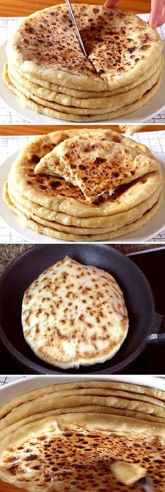 """Te chuparás los dedos con estos KHACHAPURI de QUESO """" By Recetas de Esbieta.  #khachapuri #tortillas #queso #trigo #postre #receta #recipe #casero #torta #tartas #pastel #nestlecocina #bizcocho #bizcochuelo #tasty #cocina #cheesecake #helados #gelatina #gelato #budin #pudin #flanes #pan #masa #panfrances #panes #panettone #pantone #panetone #navidad #chocolate   Si te gusta dinos HOLA y dale a Me Gusta MIREN... Vegan Pancake Recipes, Mexican Food Recipes, Vegetarian Recipes, Cooking Recipes, Crepe Recipes, Pan Bread, Love Food, Food And Drink, Easy Meals"""