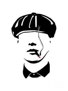 Peaky Blinders Digital Art - Peaky Blinders by Cillian Murphy Peaky Blinders Poster, Peaky Blinders Wallpaper, Peaky Blinders Thomas, Cillian Murphy Peaky Blinders, Dark Drawings, Cool Art Drawings, Art Sketches, Japanese Sleeve Tattoos, Full Sleeve Tattoos