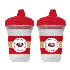 San Fransisco #49ers 2 Pack Sippy Cups. Click to order! - $14.99