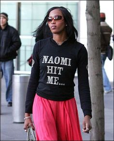 She just ain't right :) Naomi Campbell!