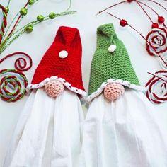 Gnome Christmas Crochet Towel Topper Crochet Pattern – Crochet Blankets, Pillows, and stuff Christmas Crochet Patterns, Holiday Crochet, Crochet Towel Topper, Crochet Hooks, Crochet Kitchen Towels, Christmas Towels, Christmas Gnome, Christmas Kitchen, Christmas Deco