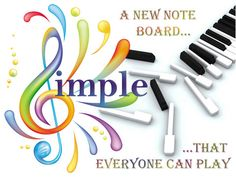 A new noteboard that arranges the notes in a different way.  Simple Music is a new arrangement of notes to VISUALLY and EASILY provide for playing music. SLIDING your finger from any point ALWAYS produces a CHORD. The higher importance notes and chords always surround the main key. It is indeed the simplest approach to playing music, with so much musical sense, it might as well become the future keyboard.    You can play COMPLETE SONGS and even ACCOMPANY A SINGER on a full song.