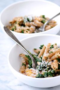This is one simple, but delicious pasta dish. Get your greens the delicious way! // Whole-Wheat Penne with Kale & Toasted Breadcrumbs (DeLallo.com Recipes) #italian #healthy