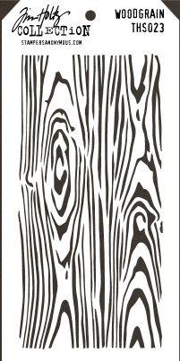 Stamper's Anonymous / Tim Holtz - Layering Stencil - Wood Grain