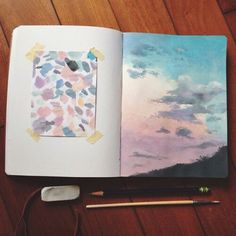 Céu em aquarela