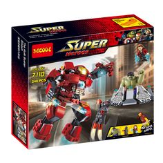 Decool 7110 Super Hero Iron Man Hulkbuster Armor Figure Bricks Building Block Minifigue Toys Kid Gift Compatible with Legoe //Price: $US $18.81 & FREE Shipping //     #clknetwork